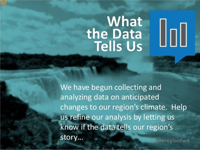 We have begun collecting andanalyzing data on anticipatedchanges to our region's climate. Helpus refine our analysis by le...