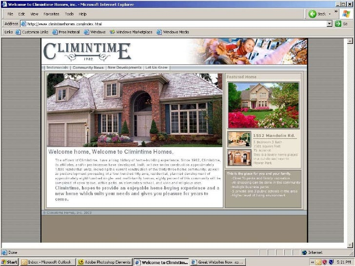 Web Climintime Homes