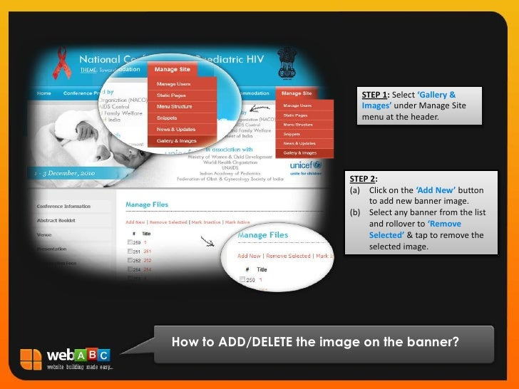 STEP 1: Select 'Gallery & Images' under Manage Site menu at the header.<br />STEP 2:<br />Click on the 'Add New' button to...