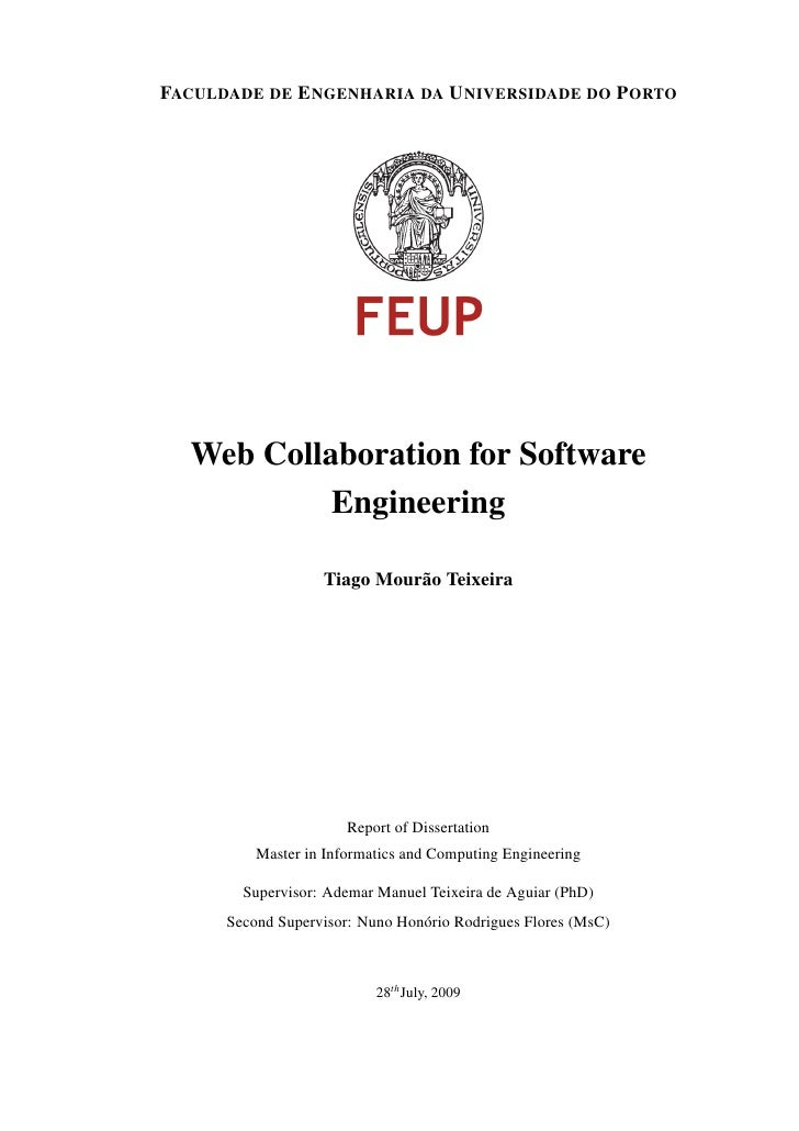 Web Collaboration For Software Engineering Msc Thesis