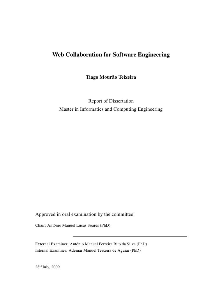Master Thesis Proposals in Software Engineering