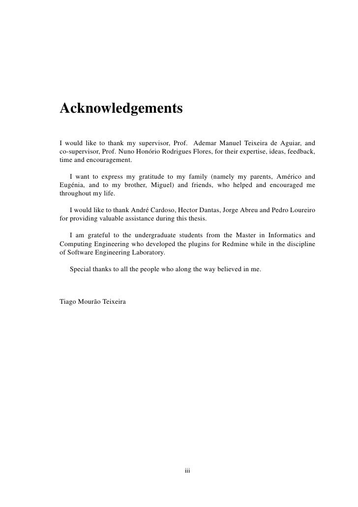 Phd Thesis How To Write Acknowledgements – How To Write A PhD Thesis  Acknowledgement