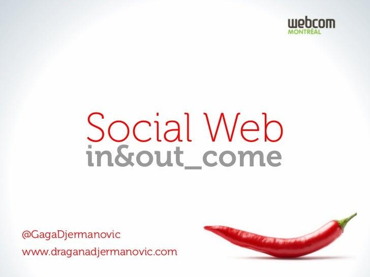 Social Web          in&out_come@GagaDjermanovicwww.draganadjermanovic.com