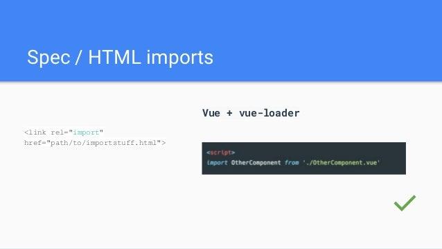 Web components api + Vuejs