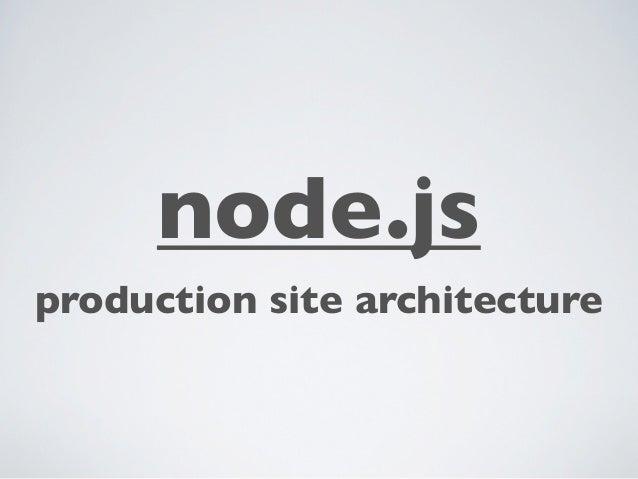 node.jsproduction site architecture