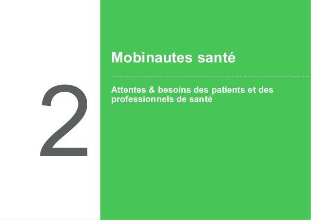 2 Attentes & besoins des patients et des professionnels de santé Mobinautes santé