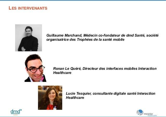 LES INTERVENANTS ! Guillaume Marchand, Médecin co-fondateur de dmd Santé, société organisatrice des Trophées de la santé m...