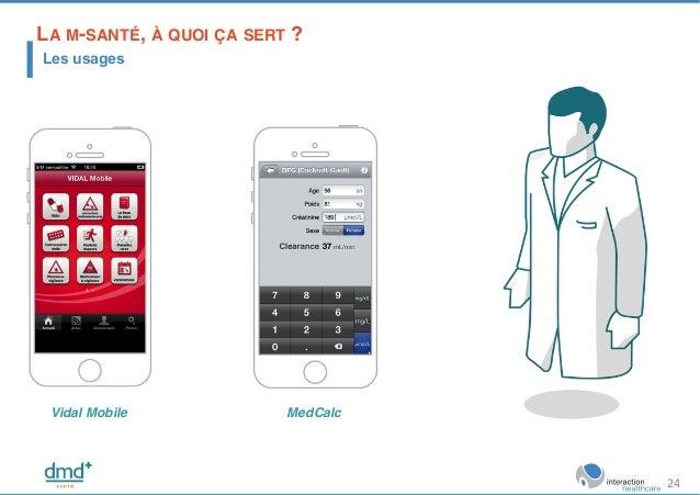 Vidal Mobile! MedCalc! LA M-SANTÉ, À QUOI ÇA SERT ?! Les usages 24
