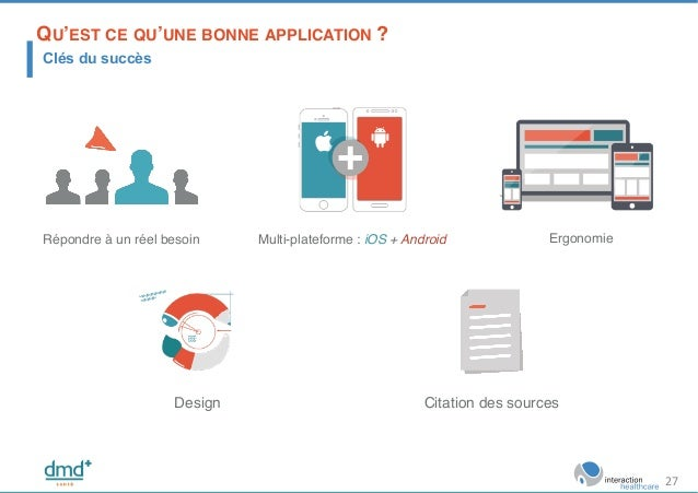 Multi-plateforme : iOS + Android!Répondre à un réel besoin! Design! Citation des sources! Ergonomie! QU'EST CE QU'UNE BONN...