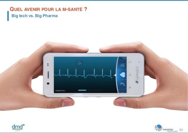 QUEL AVENIR POUR LA M-SANTÉ ?! Big tech vs. Big Pharma 33