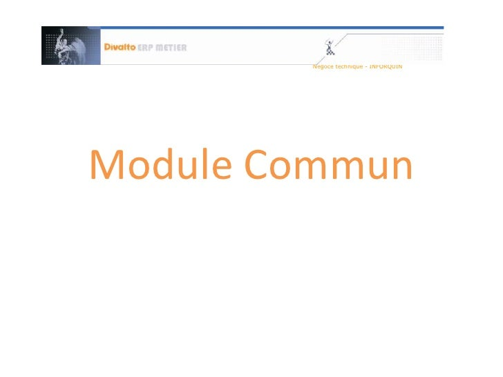 Module Commun<br />