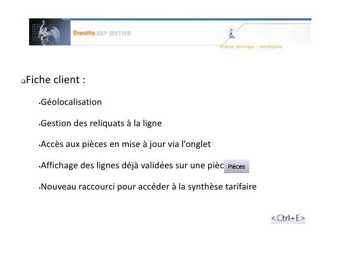 Interface Microsoft Office ou Open Office</li></li></ul><li>Achat - Vente<br />