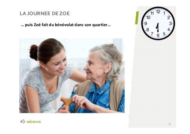 LA JOURNEE DE ZOE 36 … puis Zoé fait du bénévolat dans son quartier…