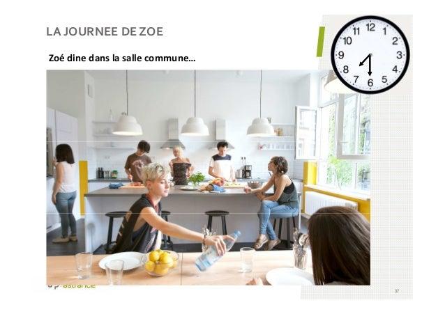 LA JOURNEE DE ZOE 37 Zoé dine dans la salle commune…