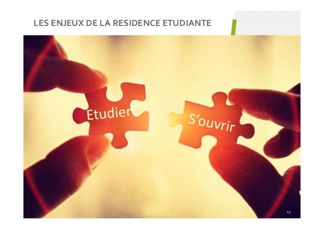 LES ENJEUX DE LA RESIDENCE ETUDIANTE 43