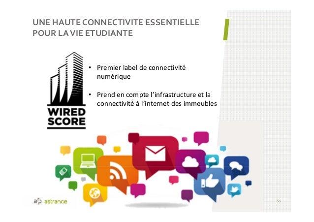 UNE HAUTE CONNECTIVITE ESSENTIELLE POUR LAVIE ETUDIANTE 54 • Premier label de connectivité numérique • Prend en compte l'i...