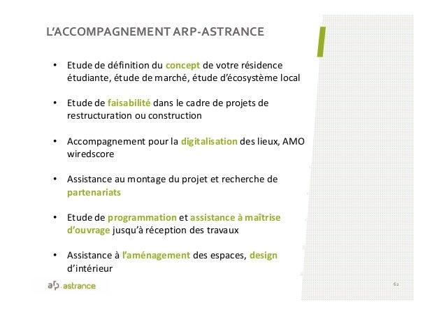 L'ACCOMPAGNEMENT ARP-ASTRANCE 62 • Etude de définition du concept de votre résidence étudiante, étude de marché, étude d'é...
