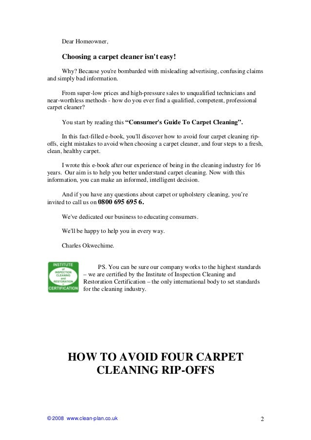Carpet And Upholstery Cleaning Guide