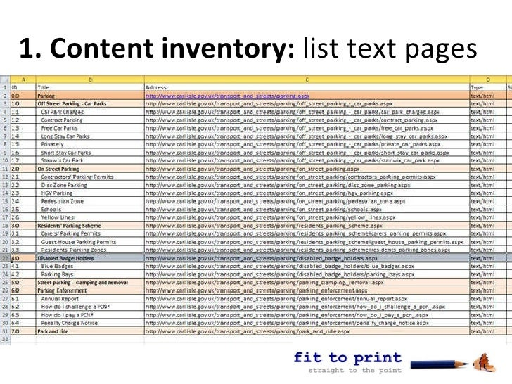 Web content audit from fit to print - the first step to a full conten…