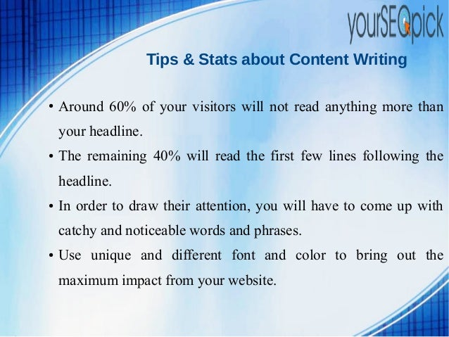 web content writing tips Content writing tips for beginners – anyone just cannot ignore the importance of content in the digital world internet would be an empty space if content was not.
