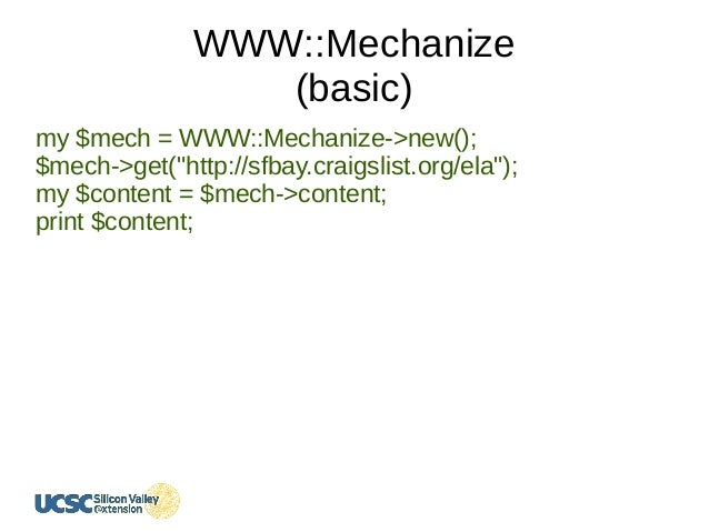 Web Crawlers in Perl