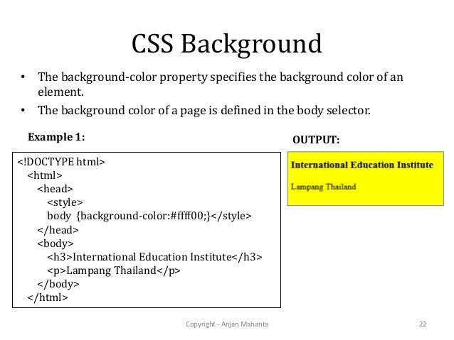 Web development using css3 for Css page background color