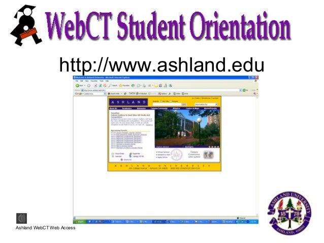 Web Ct Student Orient Slide 2