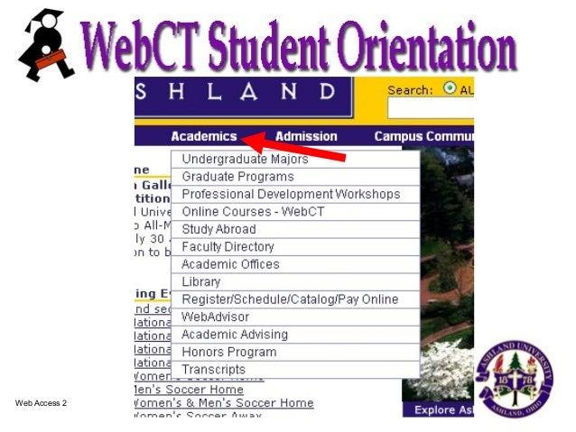 Web Ct Student Orient Slide 3