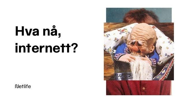 Netlife Hva nå,  internett?