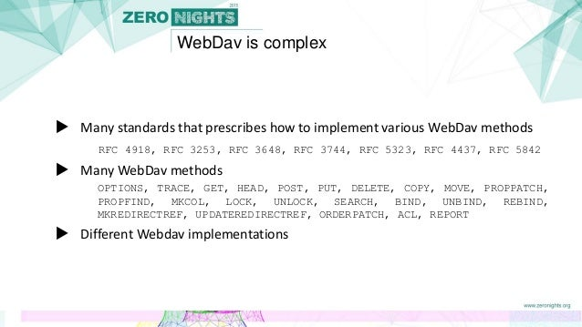 What should a hacker know about WebDav?
