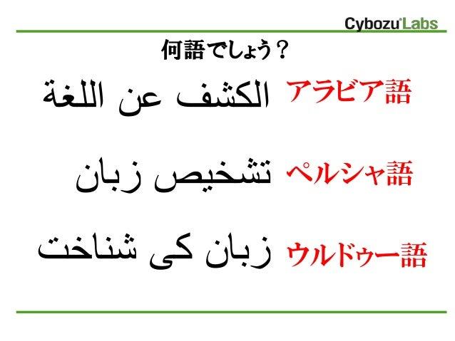 国際化時代の40カ国語言語判定