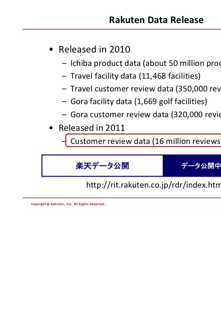 Customer Review data at Rakuten Ichiba Slide 3