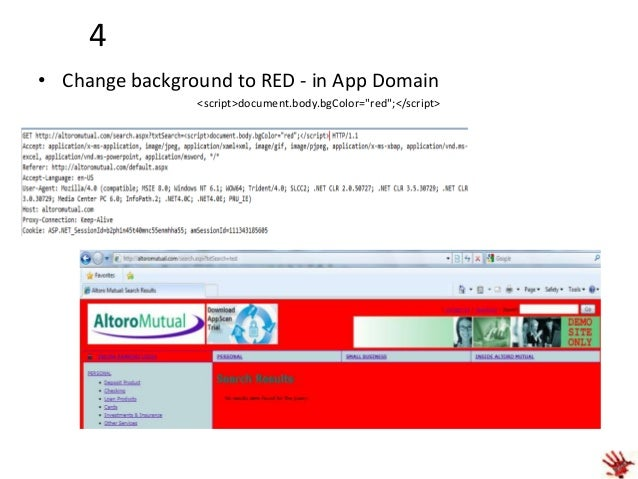 """5 • Set the background to Hacked Image- in App Domain  <script>document.body.background=""""http://www.theblacktechreport.co..."""