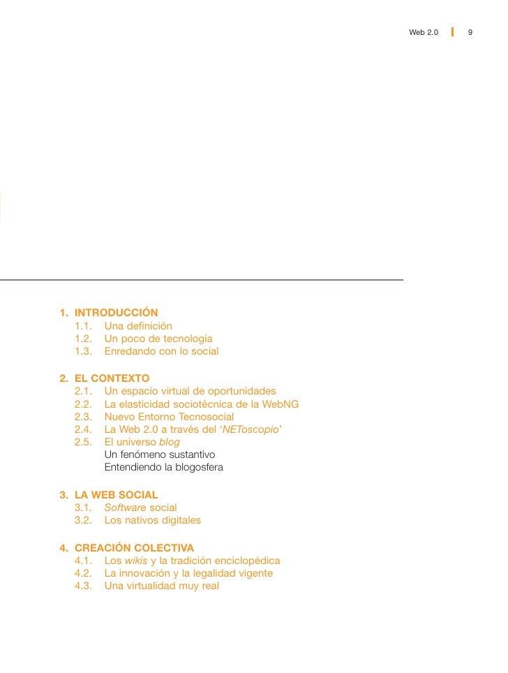 10   Web 2.0                    1. INTRODUCCIÓN                 1.1. Una definición                 La intención primordia...