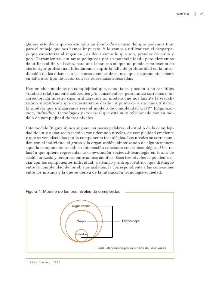 22   Web 2.0                    El acrónimo OITP por su parte, se refiere a los cuatro elementos (o dimensio-             ...
