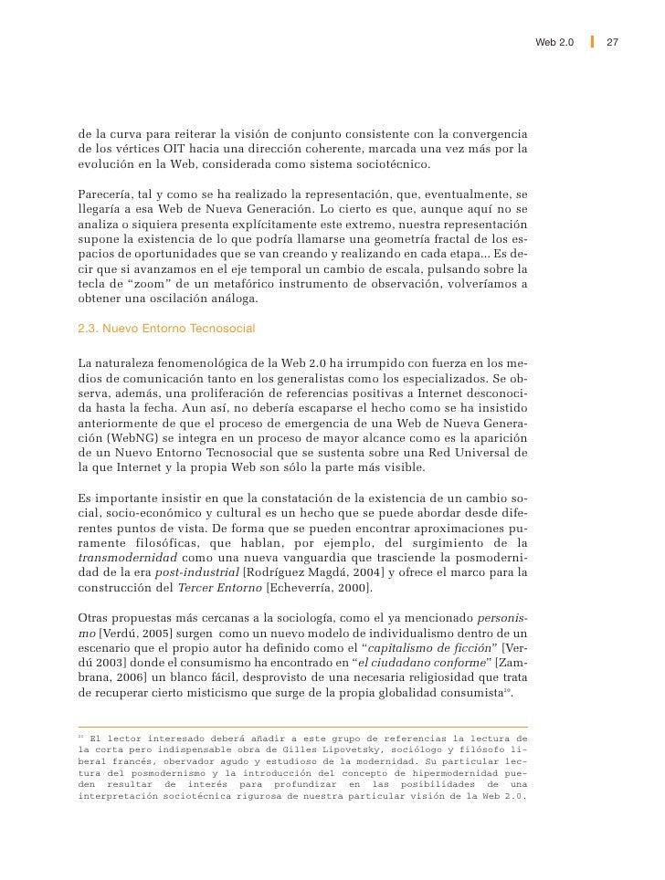 28   Web 2.0                    El Nuevo entorno se presenta como un modelo conceptual –una herramienta                int...