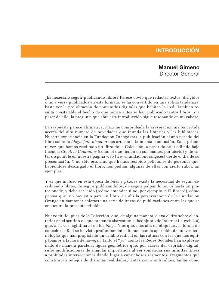 INTRODUCCIÓN                                                                 Manuel Gimeno                                ...