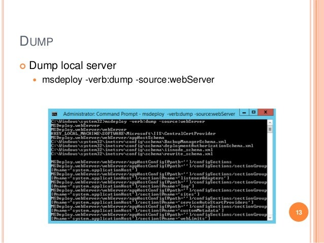 Web deploy command line