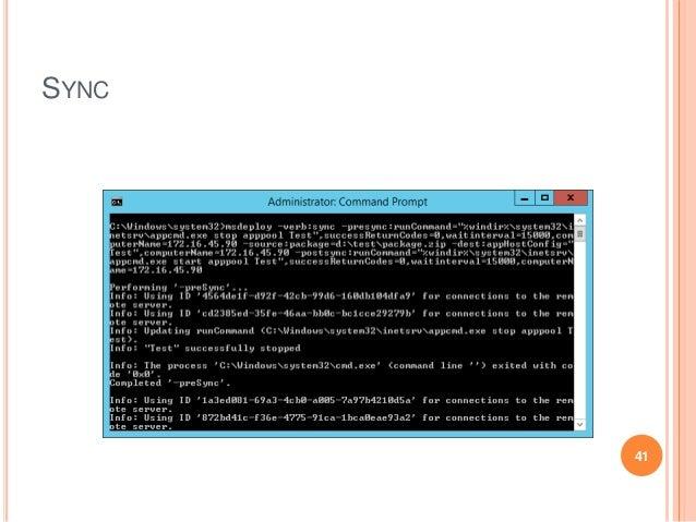 Web deploy command line