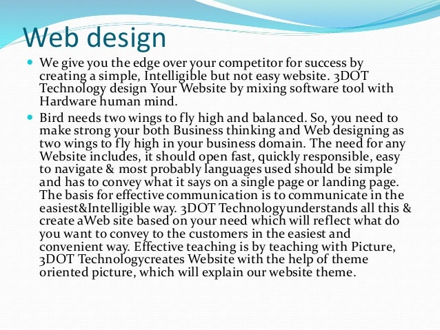 Top website designing companies agencies in pune 3dot for Architecture firms for internship in pune