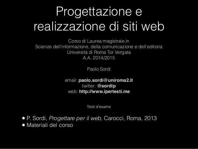 Progettazione e realizzazione di siti web a a 2014 2015 for Siti web di progettazione architettonica gratuiti
