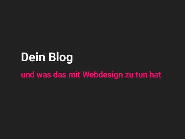 Headline 1234 Subline 5678 Dein Blog und was das mit Webdesign zu tun hat