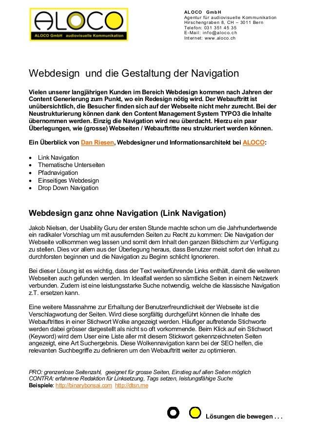ALOCO GmbHAgentur für audiovisuelle KommunikationHirschengraben 8, CH – 3011 BernTelefon: 031 351 45 35E-Mail: info@aloco....