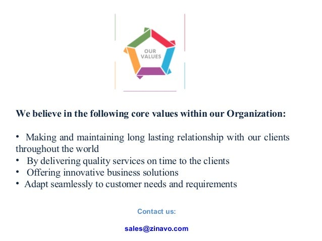Contact us:  sales@zinavo.com
