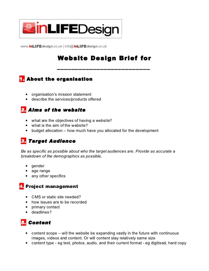 Web design brief template for House design brief template for architect