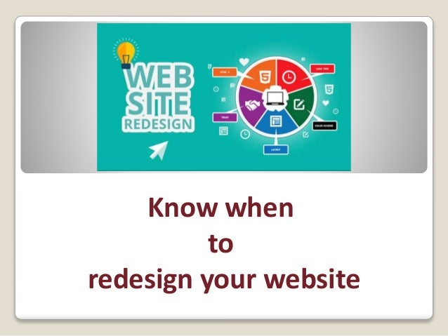 Know when to redesign your website