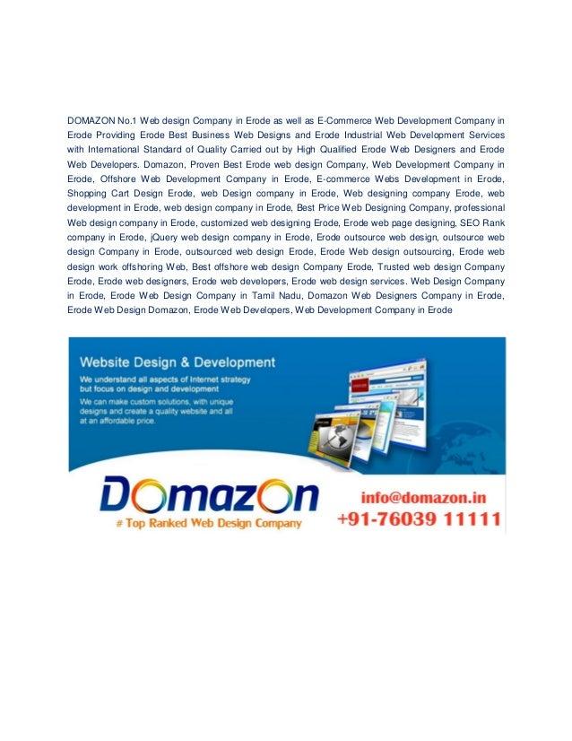 Web Design Company In Erode Domazon Web Development Company In Tamil
