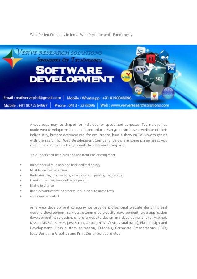 Web Design Company In India Web Development Pondicherry