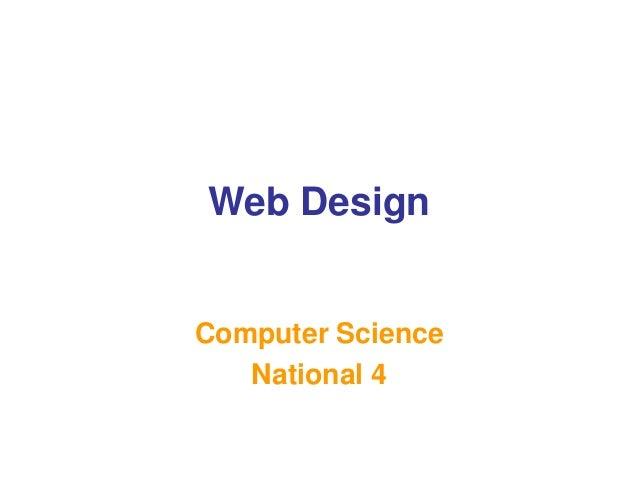Web Design Computer Science National 4