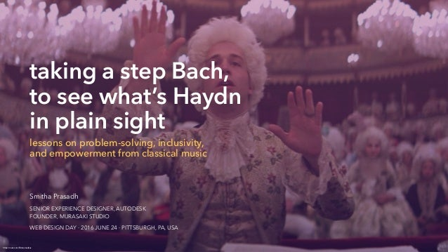 taking a step Bach, 